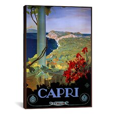 Capri Italia from Vintage Apple Vintage Advertisement on Canvas