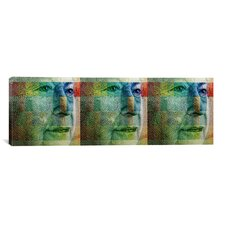 Canadian Money Queen, Panoramic Graphic Art on Canvas