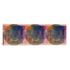 Canada One Cent Panoramic Graphic Art on Canvas