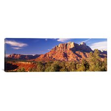 Panoramic Canyon Surrounded with Forest, Escalante Canyon, Utah Photographic Print on Canvas