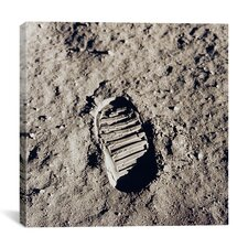"""Apollo 11 Bootprint"" Canvas Wall Art by Buzz Aldrin"