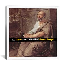 Aristotle Quote Canvas Wall Art