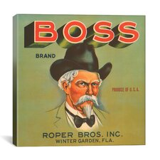 Boss Brand Vintage Crate Label Canvas Wall Art
