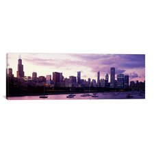Panoramic Buildings at the Waterfront, Lake Michigan, Chicago, Illinois Photographic Print on Canvas