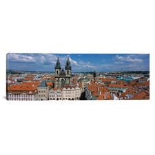 Panoramic Church of Our Lady before Tyn, Old Town Square, Prague, Czech Republic Photographic Print on Canvas
