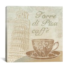 """Caffe Pisa"" Canvas Wall Art by Erin Clark"
