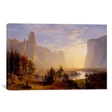 'Yosemite Valley' by Albert Bierstadt Photographic Print on Canvas
