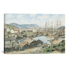 'Yerba Buena Cove, San Francisco' by Stanton Manolakas Painting Print on Canvas