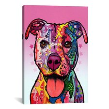 'Cherish The Pit Bull' by Dean Russo Graphic Art on Canvas