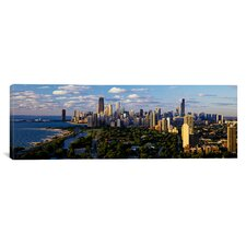 Panoramic Chicago IL Photographic Print on Canvas