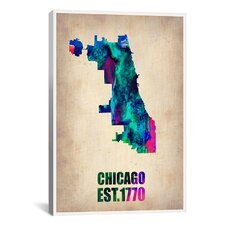 Naxart 'Chicago Watercolor Map' Graphic Art on Canvas