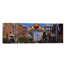 Panoramic Buildings in a City, Gaslamp Quarter, San Diego, California Photographic Print on Canvas