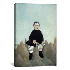 'Boy on The Rocks 1895-1897' by Henri Rousseau Painting Print on Canvas