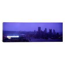 Panoramic Buildings in a City, Heinz Field, Three Rivers Stadium, Pittsburgh, Pennsylvania Photographic Print on Canvas