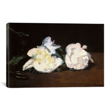 'Branch of White Peonies and Secateurs' by Edouard Manet Painting Print on Canvas