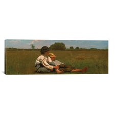 'Boys in a Pasture' by Winslow Homer Painting Print on Canvas