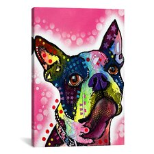 'Boston Terrier' by Dean Russo Graphic Art on Canvas
