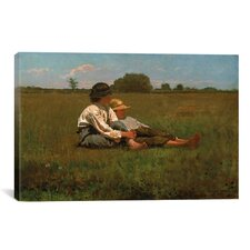'Boys in a Pasture, 1874' by Winslow Homer Painting Print on Canvas