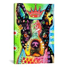 'Boston Terrier Crowned' by Dean Russo Graphic Art on Canvas