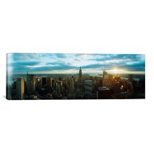 Panoramic Buildings in a city, Empire State Building, Manhattan, New York, 2011 Photographic Print on Canvas