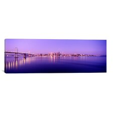Panoramic Bay Bridge in San Francisco, California Photographic Print on Canvas