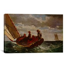 'Breezing Up' by Winslow Homer Painting Print on Canvas