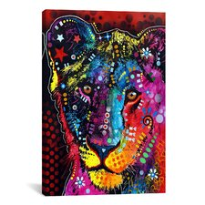 'Young Lion' by Dean Russo Graphic Art on Canvas