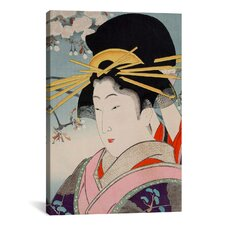 A Courtesan Japanese Woodblock Painting Print on Canvas