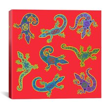 """8 Lizards"" Canvas Wall Art by Willow Bascom"