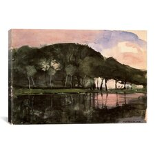 'Along the Amstel, 1903' by Piet Mondrian Painting Print on Canvas