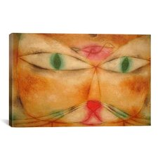 'Cat and Bird' by Paul Klee Painting Print on Canvas