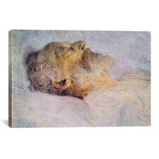 'Alter Mann Auf Dem Totenbett (Old Man on the Deathbed)' by Gustav Klimt Painting Print on Canvas