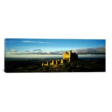 Panoramic Castle on a Hill, Loarre Castle, Huesca, Aragon, Spain Photographic Print on Canvas
