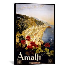 Amalfi Vintage Advertisement on Canvas