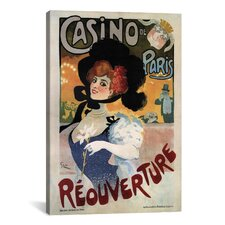 'Casino de Paris (Reouverture)' Vintage Advertisement on Canvas