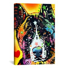 'Akita' by Dean Russo Graphic Art on Canvas