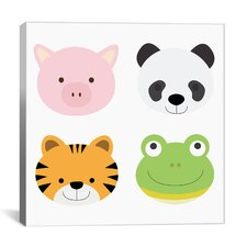 Kids Art Animal Farm I Graphic Canvas Wall Art