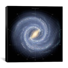 Annotated Roadmap of the Milky Way (NASA) Canvas Wall Art