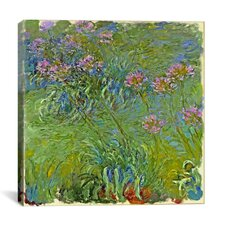'Agapanthus Flowers' by Claude Monet Painting Print on Canvas