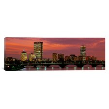 Panoramic Back Bay, Boston, Massachusetts Photographic Print on Canvas