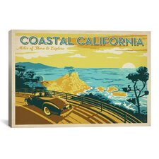 'ASA-Coastal California Horiz' by Anderson Design Group Vintage Advertisment on Canvas