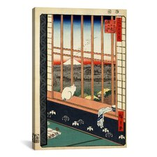 Ando Hiroshige 'Asakusa Ricefields and Torinomachi Festival, 1857' by Utagawa Hiroshige l Graphic Art on Canvas