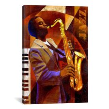 'Jammin' by Keith Mallett Painting Print on Canvas