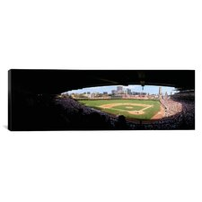 Panoramic Wrigley Field, Chicago, Illinois Photographic Print on Canvas