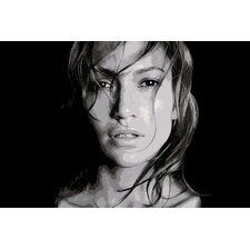 Pop Art Jennifer Lopez Photographic Print on Canvas