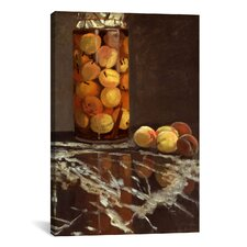 'Jar of Peaches (Das Pfirsichglas)' by Claude Monet Painting Print on Canvas