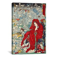 'Japanese Jigoku Dayu (Hell Courtesan)' by Kawanabe Kyosai Painting Print on Canvas