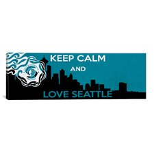 Keep Calm and Love Seattle Textual Art on Canvas