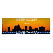 Keep Calm and Love Tampa Vintage Advertisement on Canvas
