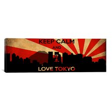 Keep Calm and Love Tokyo Textual Art on Canvas
